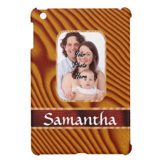 Faux wood photo template cover for the iPad mini