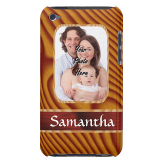 Faux wood photo template iPod touch cover