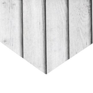 Faux Wood Slats | White | Customizable Tissue Paper