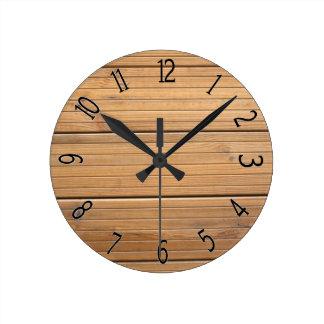 Faux Wooden Fancy Paneling Wallclocks