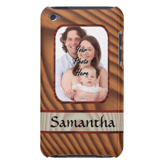 Faux wooden personalized photo iPod touch covers