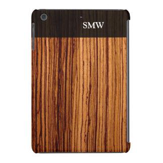 Faux Zebra Wood Grain Custom Personalized iPad Mini Cases
