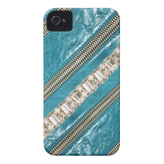 Faux Zippers,Leather & Rhinestones IPhone4 Case iPhone 4 Case