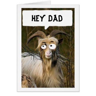 FAV CHILD SENDS YOU GOOFY GOAT FATHER'S DAY CARD