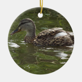 Fav little duckie round ceramic decoration