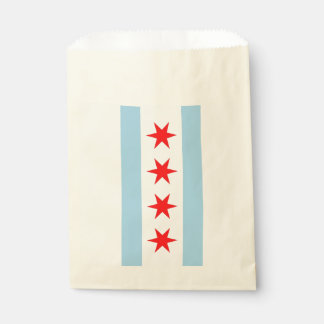 Favor bag with flag of Chicago City, Illinois, USA