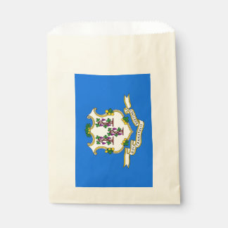 Favor bag with flag of Connecticut State, USA
