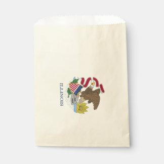 Favor bag with flag of Illinois State, USA