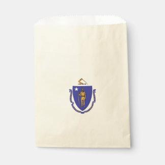 Favor bag with flag of Massachusetts State, USA