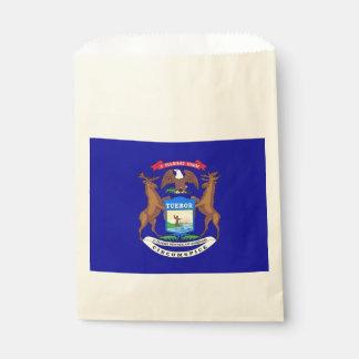 Favor bag with flag of Michigan State, USA