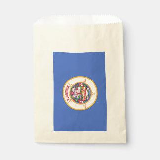 Favor bag with flag of Minnesota State, USA