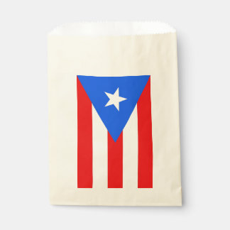 Favor bag with flag of Puerto Rico, USA
