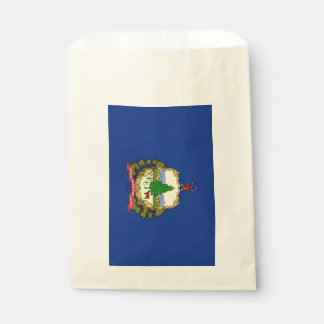 Favor bag with flag of Vermont State, USA