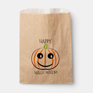 FAVOR BAGS WITH HAPPY HALLOWEEN  WITH PUMPKIN.
