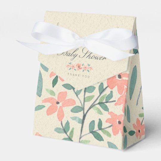 FAVOR BOX   Vintage Floral Storybook Baby Shower