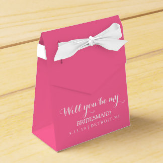 Favor Box - Will you be my bridesmaid Wedding Favour Box