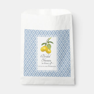 Favor Bridal Shower Boho Farmhouse Barn Lemon Blue Favour Bags