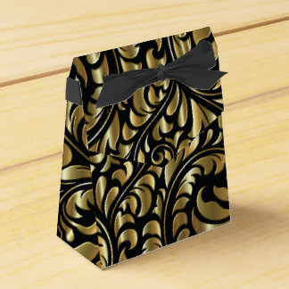Favor/Gift Boxes - Drama in Black and Gold