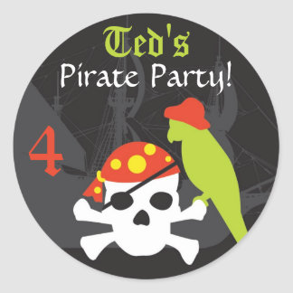 Favor Sticker - Pirate