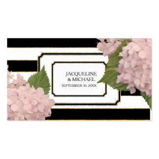 Favor Tag English Pink Hydrangea Deco Gold Glitter Pack Of Standard Business Cards