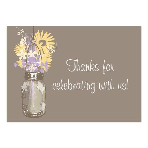 Favor Tag Wild Flowers & Mason Jar Business Card