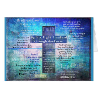 Favorite Bible Verses with Christian Cross Greeting Card