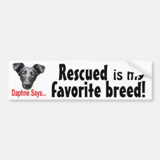 Favorite breed car bumper sticker
