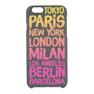 Favorite Cities Neon Clear iPhone 6/6S Case