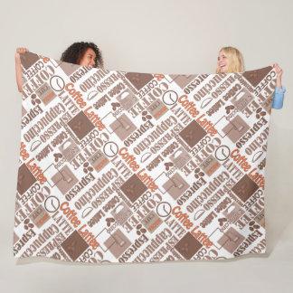 Favorite coffee fleece blanket