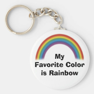 Favorite Color is Rainbow Keychain