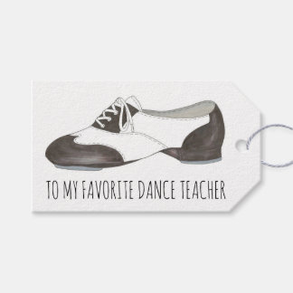 Favorite Dance Teacher Oxford Tap Shoe Dancer Gift Tags