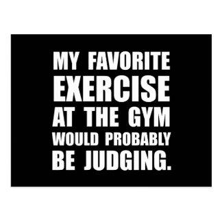 Favorite Exercise Judging Postcard