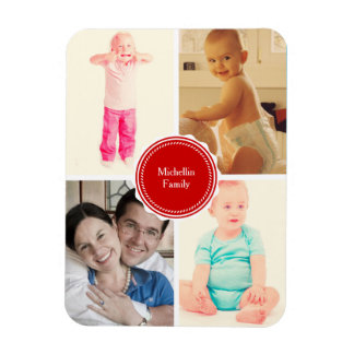 Favorite Family Photos Rectangular Photo Magnet