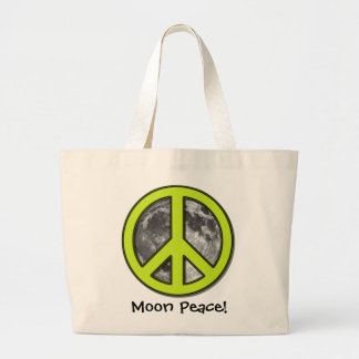 favorite Green Moon Peace Sign Tote Bag