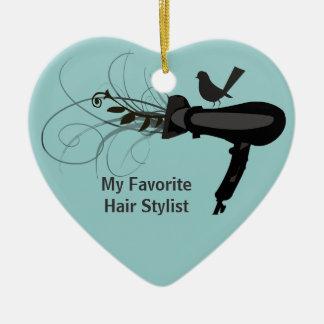 Favorite Hair Stylist Christmas Ornament