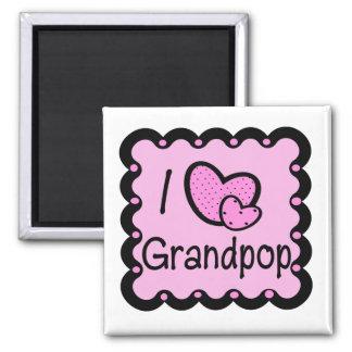 Favorite Hangout Grandpop's House Square Magnet