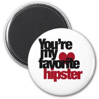 Favorite Hipster 6 Cm Round Magnet