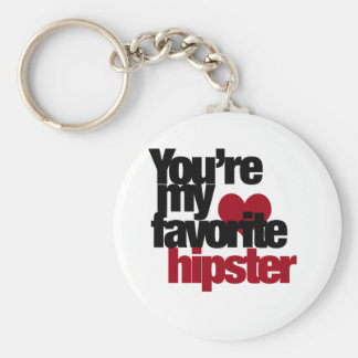 Favorite Hipster Basic Round Button Key Ring