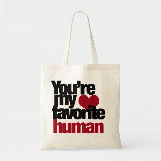 Favorite Human Love Canvas Bags