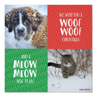 Favorite Pets Christmas Card 13 Cm X 13 Cm Square Invitation Card