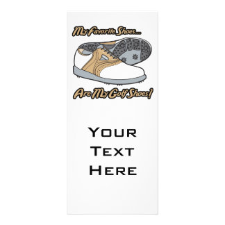 favorite shoes are my golf shoes custom rack card