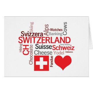 Favorite Swiss Things - I Love Switzerland Card