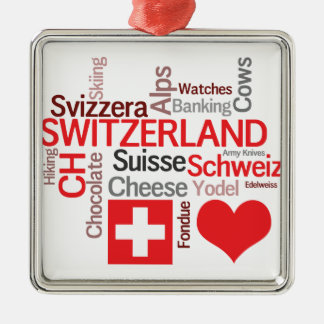 Favorite Swiss Things - I Love Switzerland Christmas Ornament