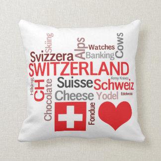 Favorite Swiss Things - I Love Switzerland Throw Pillow