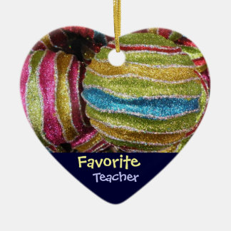 Favorite Teacher Christmas Tree Ornament