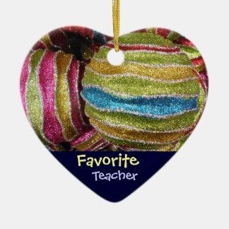 Favorite Teacher Christmas Tree Ornament