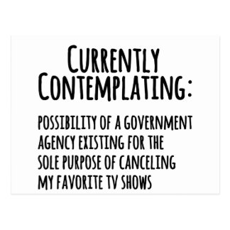 Favorite TV Shows Canceled by Govt Post Card