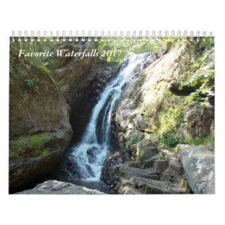 Favorite Waterfalls 2017 Calendar