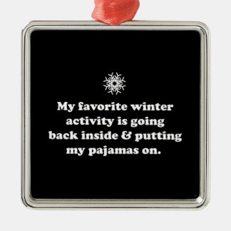 Favorite Winter Activity Christmas Ornament