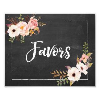 Favors Rustic Chalkboard Floral Wedding Sign Art Photo
